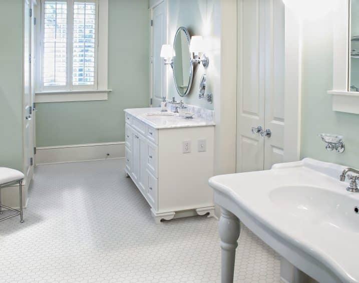 51 075 2in Soho White Matte Hexagon Porcelain Mosaics