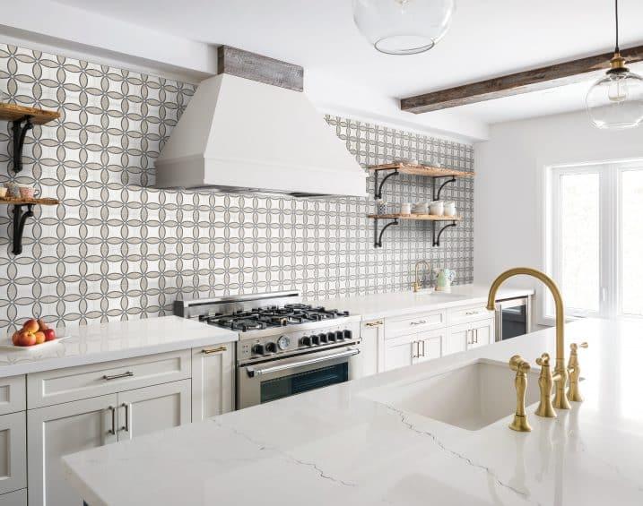 60 324 8x8 Form Sand HD Zenith Deco Porcelain Tile Lifestyle