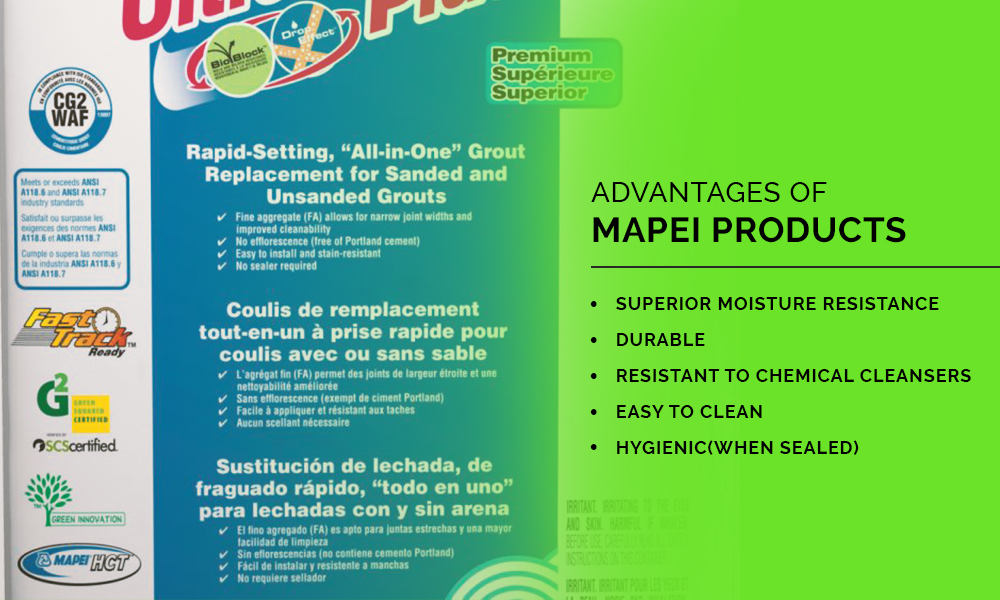 Advantages of Mapei products