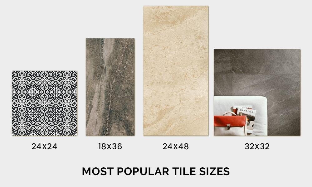 most popular tile sizes